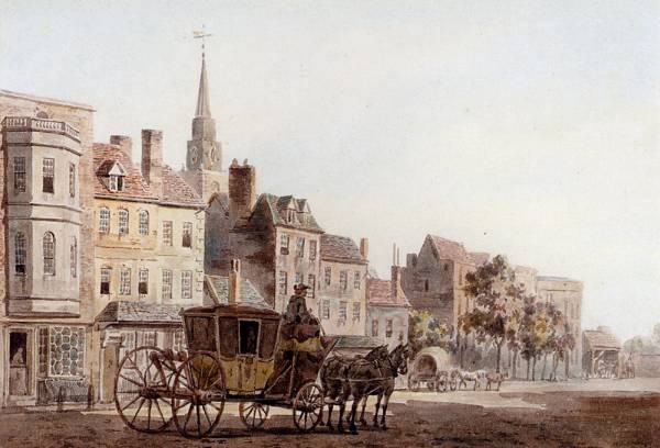 A Coach And Horses Entering York